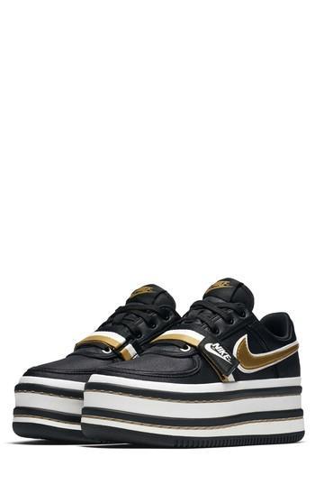 Nike Vandal 2k Sneaker In Black/ Gold/ Summit White