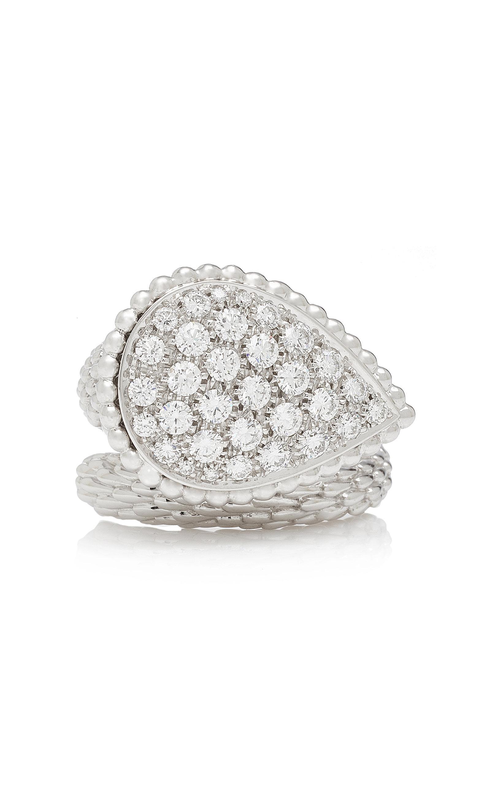 Boucheron Large Diamond Serpent Boheme Ring In White