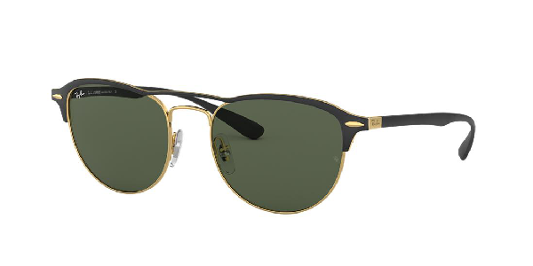 Ray Ban Ray-ban Sunglasses, Rb3596 In Gold Top On Matte Black/dark Green