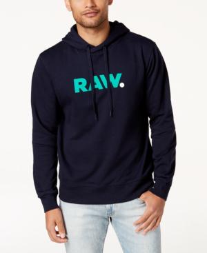 G-star Raw Men's Graphic-print Hoodie In Sartho Blue