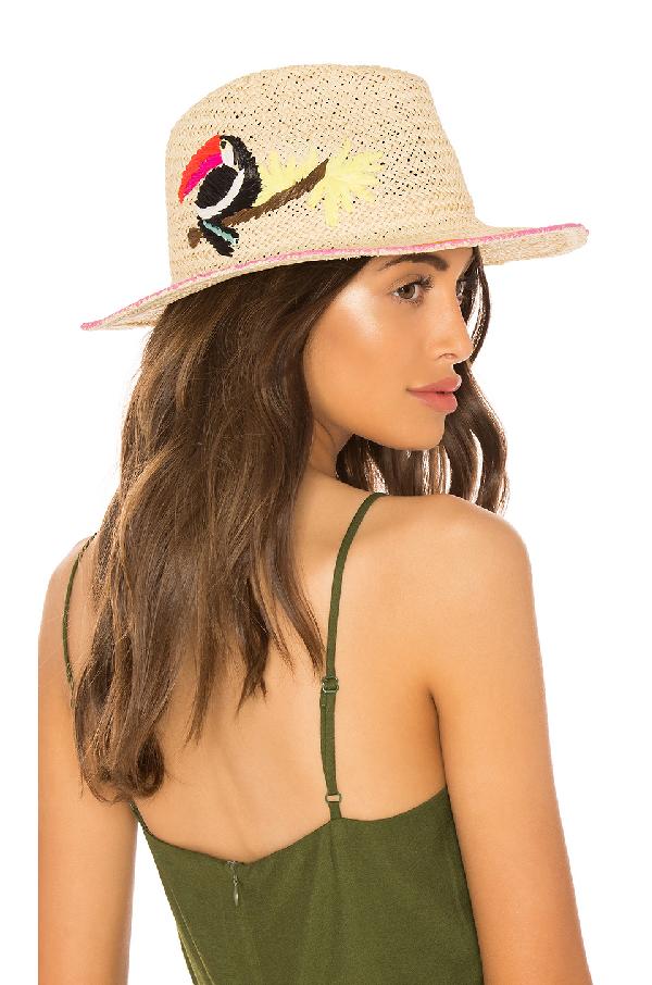 Hat Attack Toucan Fedora In Cream