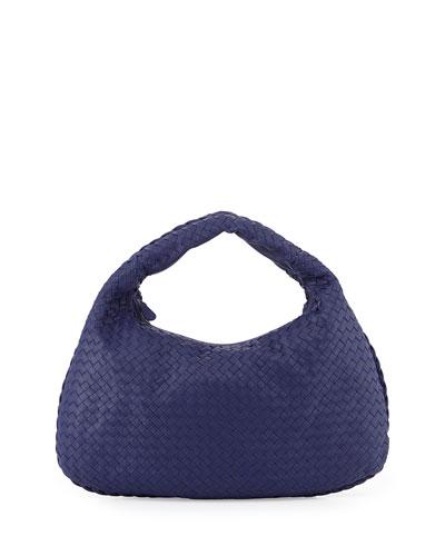 Bottega Veneta Veneta Intrecciato Large Hobo Bag, Cobalt Blue In Royal Blue