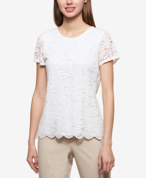 Tommy Hilfiger Lace Top In White