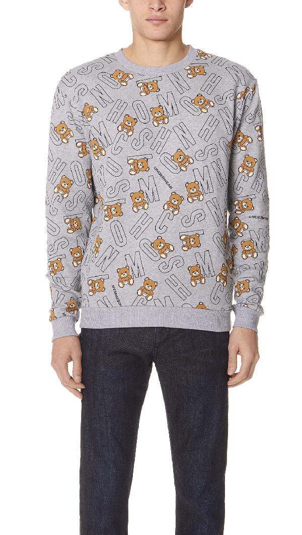 Moschino Crew Neck Sweatshirt In Grey