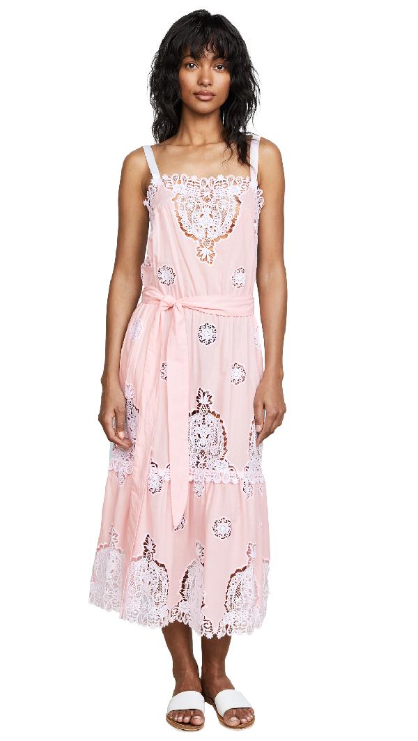 Miguelina Esme Versailles Midi Dress In Petal Pink