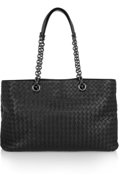 Bottega Veneta Medium Double Chain Intrecciato Tote In Espresso