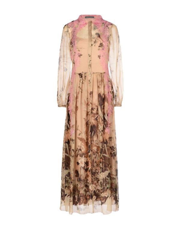 Alberta Ferretti Formal Dress In Beige