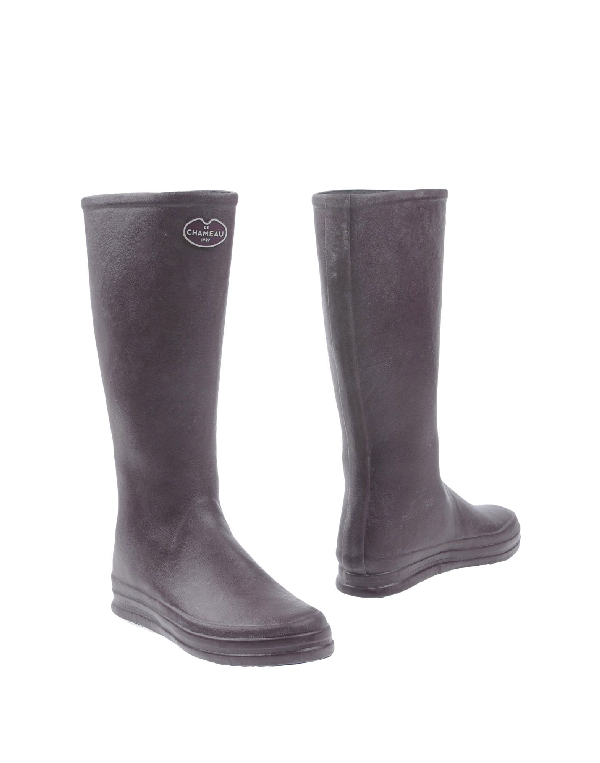 Le Chameau Boots In Deep Purple