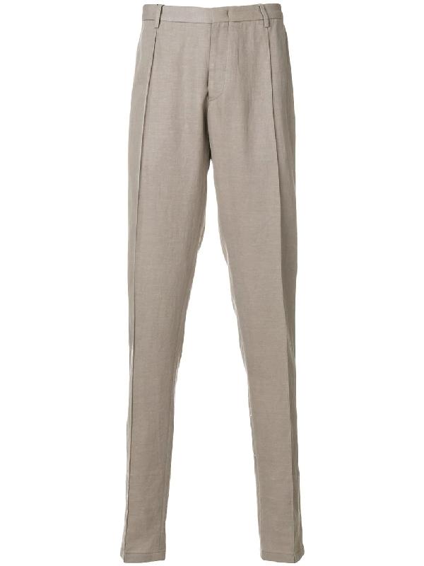 Emporio Armani Regular Fit Trousers - Neutrals