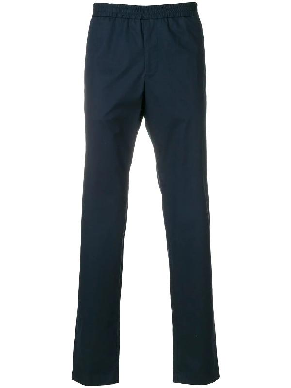 Emporio Armani Elasticted Drawsting Trousers - Blue