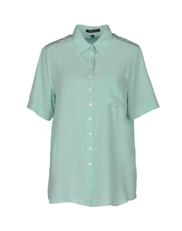 Walter Voulaz Silk Shirts & Blouses In Light Green