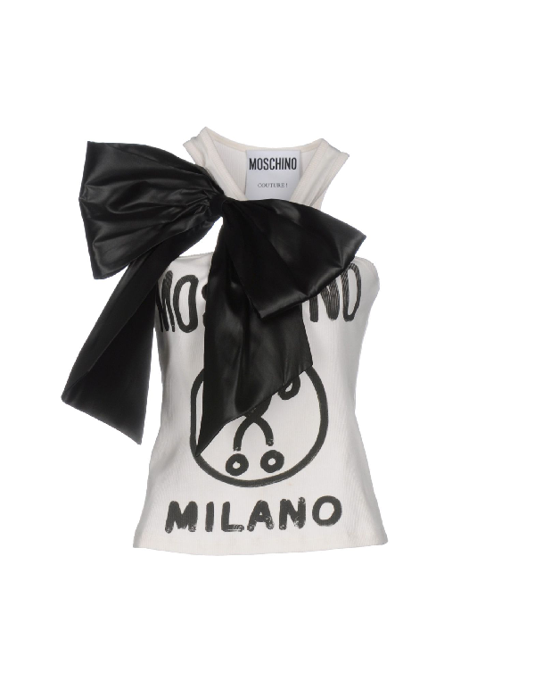Moschino Tank Top In White