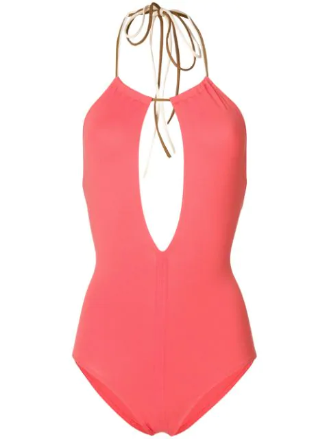 Eres Halter Neck Swimsuit In Pink