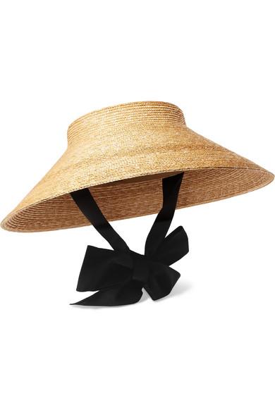9f64e2e1 Gucci Grosgrain-Trimmed Straw Hat In Beige | ModeSens