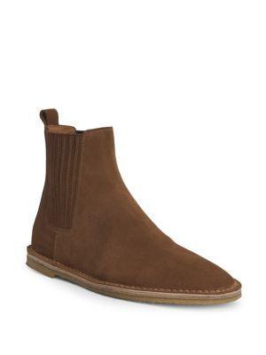 Saint Laurent Nino Suede Chelsea Boots In Land