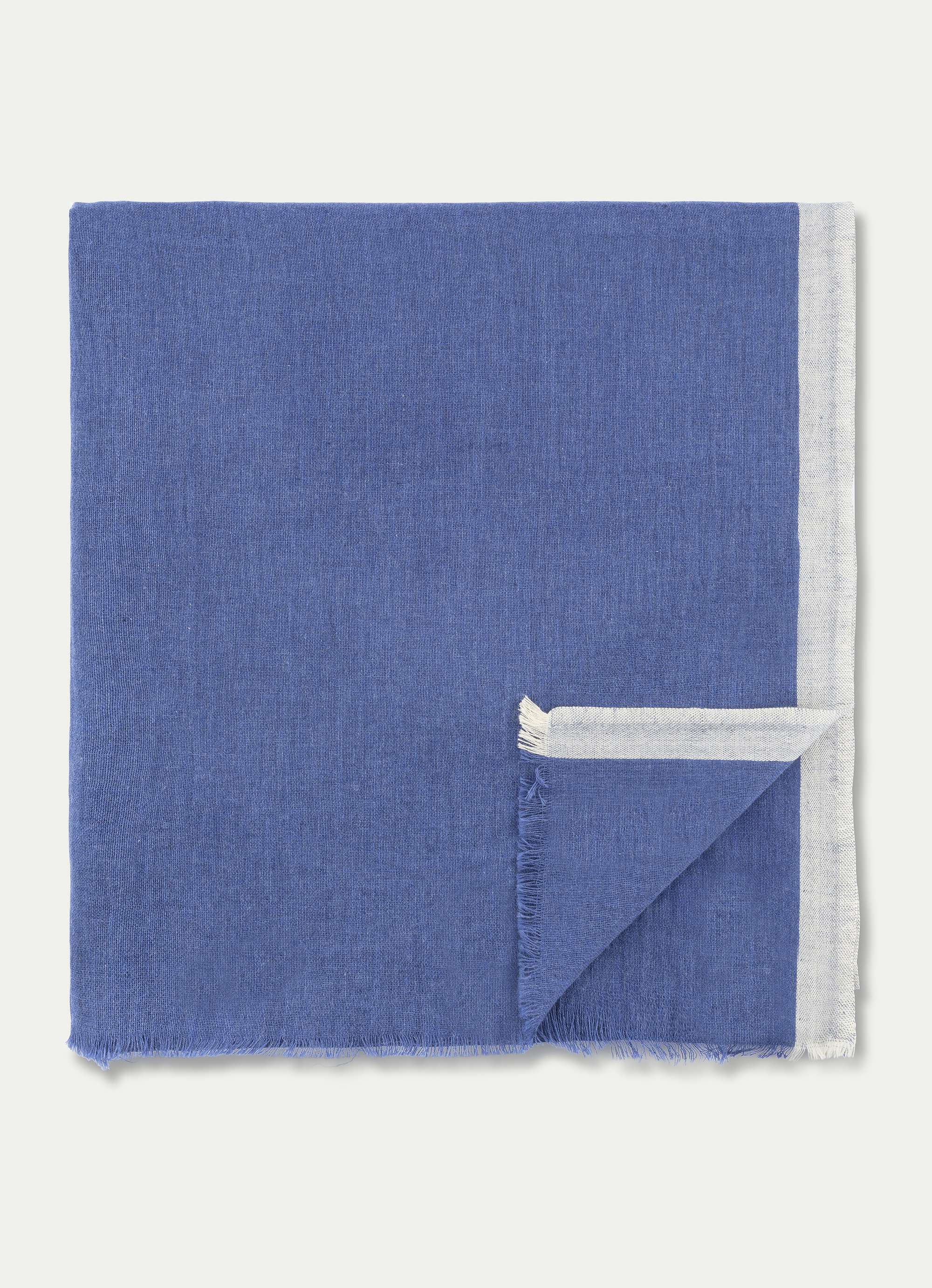 Hackett Dyed Cotton Scarf In Blue