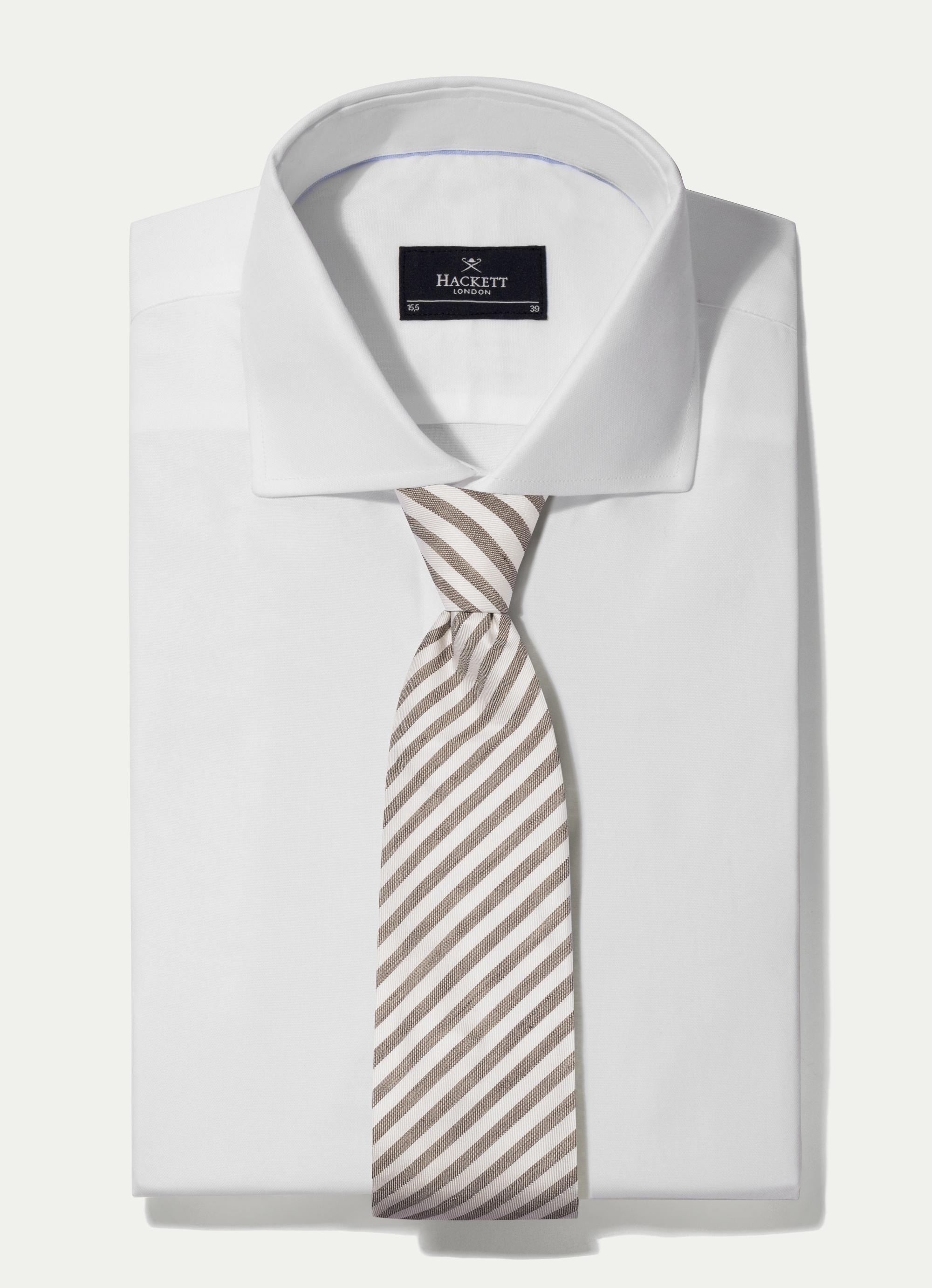Hackett Striped Silk And Cotton-blend Tie In Red