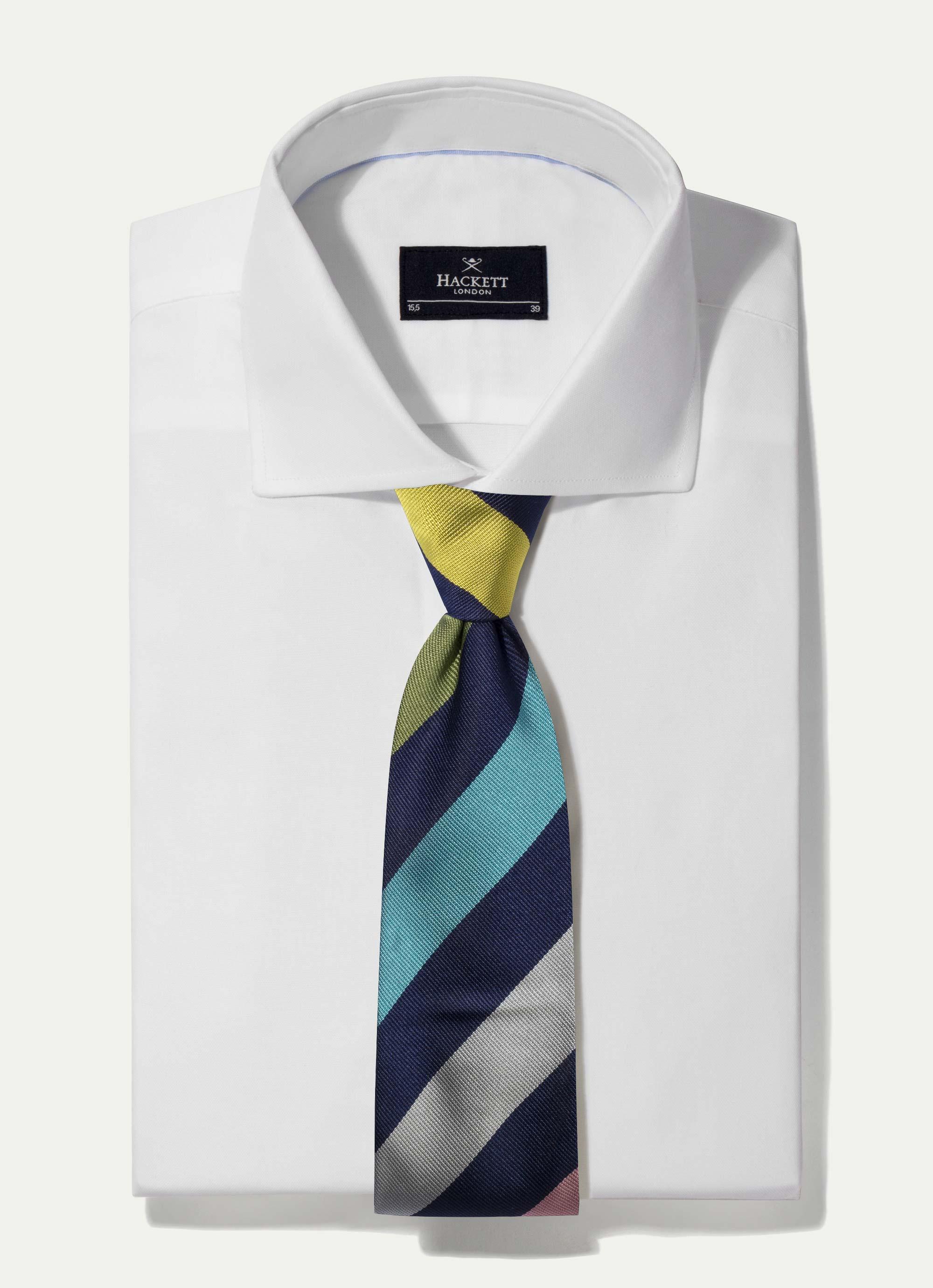 Hackett Row Silk Tie In Multi