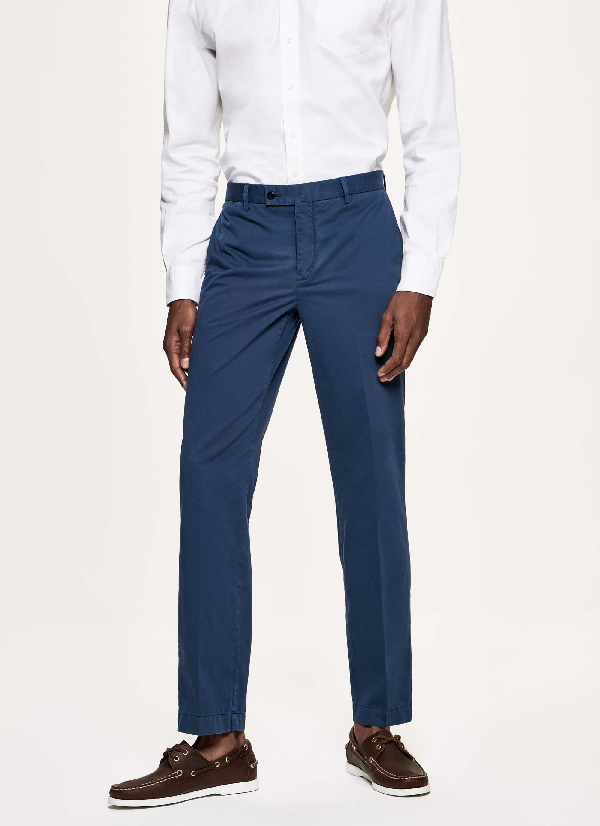 Hackett Stretch-cotton Chino Trousers In Thames