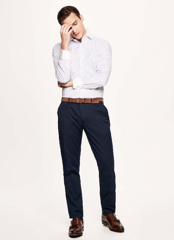Hackett Gingham Cotton Blazer Shirt In Blue/white