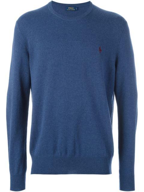 Polo Ralph Lauren Stretch Merino Slim Fit V-neck Sweater In Shale Blue