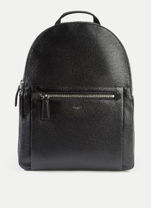 Hackett Wilton Backpack In Black