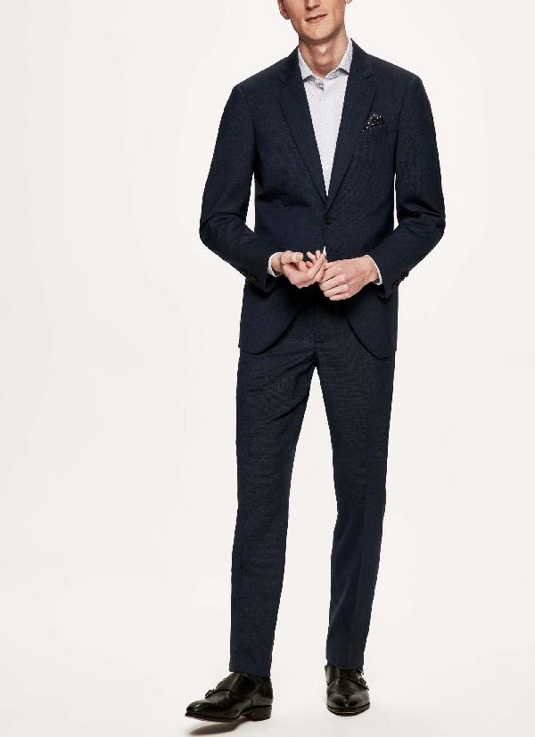 Hackett Stretch-wool Journey Suit In Blk/blue