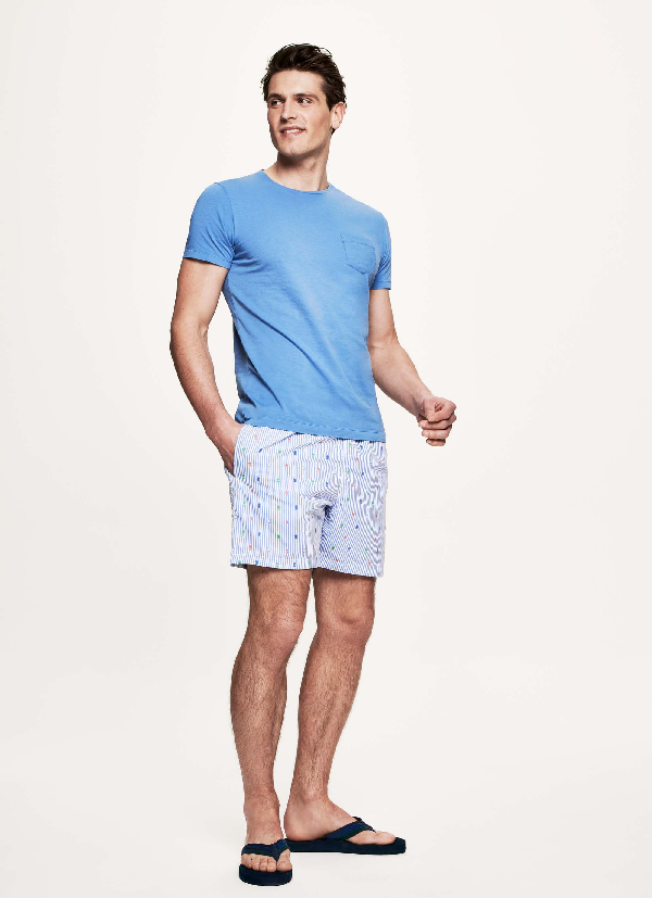 Hackett Striped Printed Swim Shorts In Multi