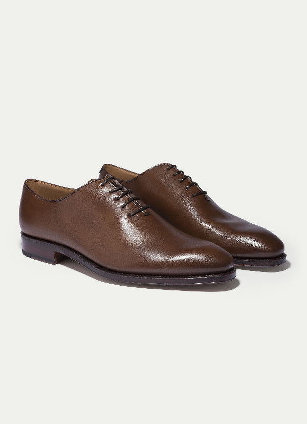 Hackett The  One Piece Leather Shoe In Brown