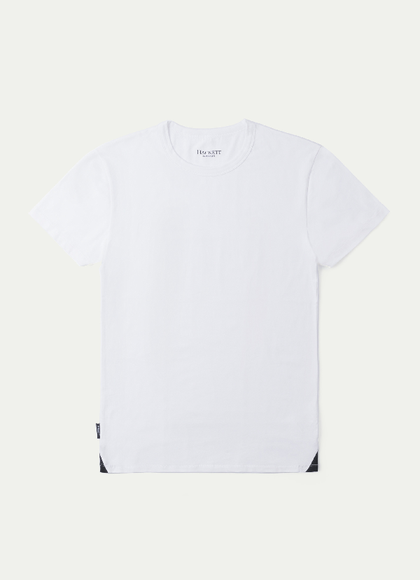 Hackett Pack Of Two: Crew Neck Lounge Tees In White/black - Not Available