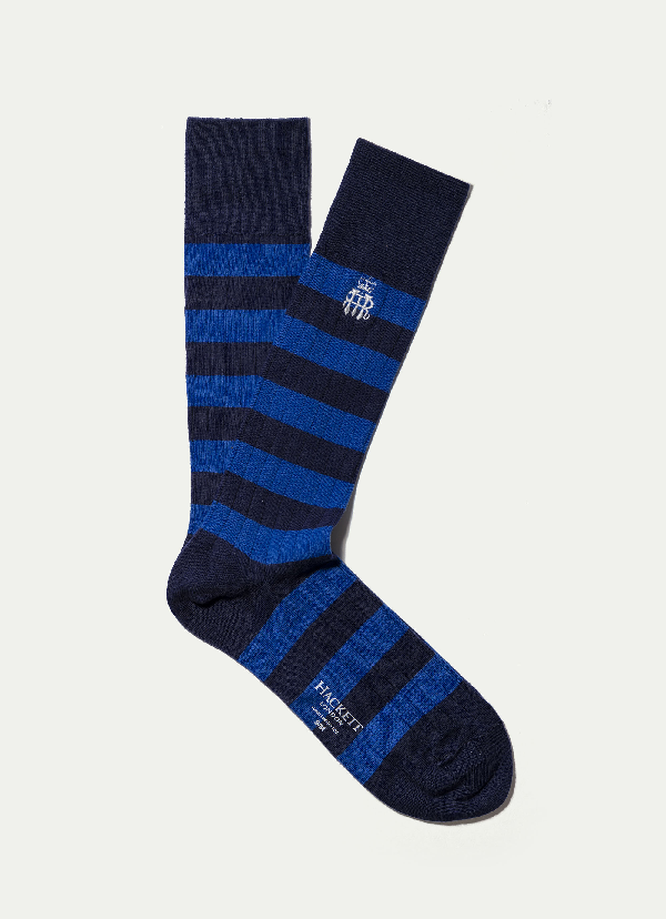 Hackett Pack Of Three: Henley Royal Regatta Inch Socks In Multi