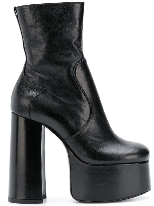 a5e415f883e Saint Laurent Billy Kangaroo Leather Platform Boot In Black