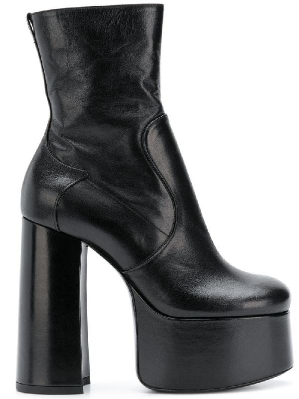 840b3fc304d Saint Laurent Billy Kangaroo Leather Platform Boot In Black