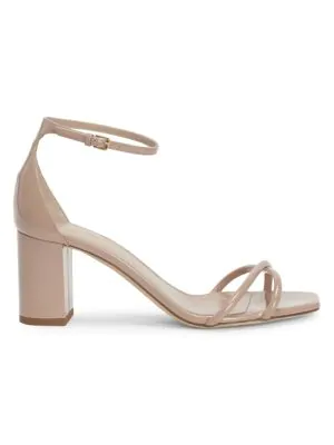 Saint Laurent Lou Lou Crisscross Leather Sandals In Nude Rose