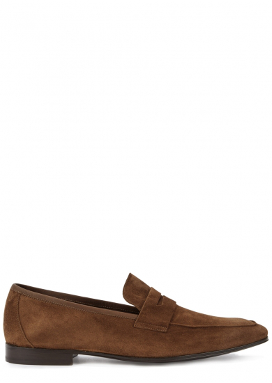 f6a864a2d12 Paul Smith Glynn Suede Penny Loafers - Brown