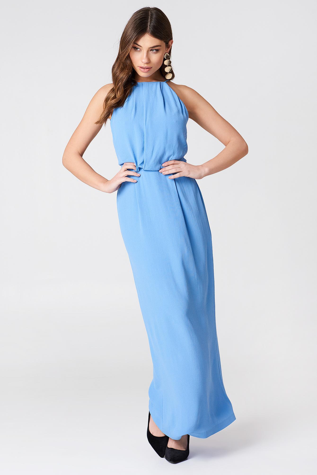 halv av bäst Storbritannien tillgänglighet Samsoe & Samsoe Willow Dress Long - Blue In Silver Lake Blue ...