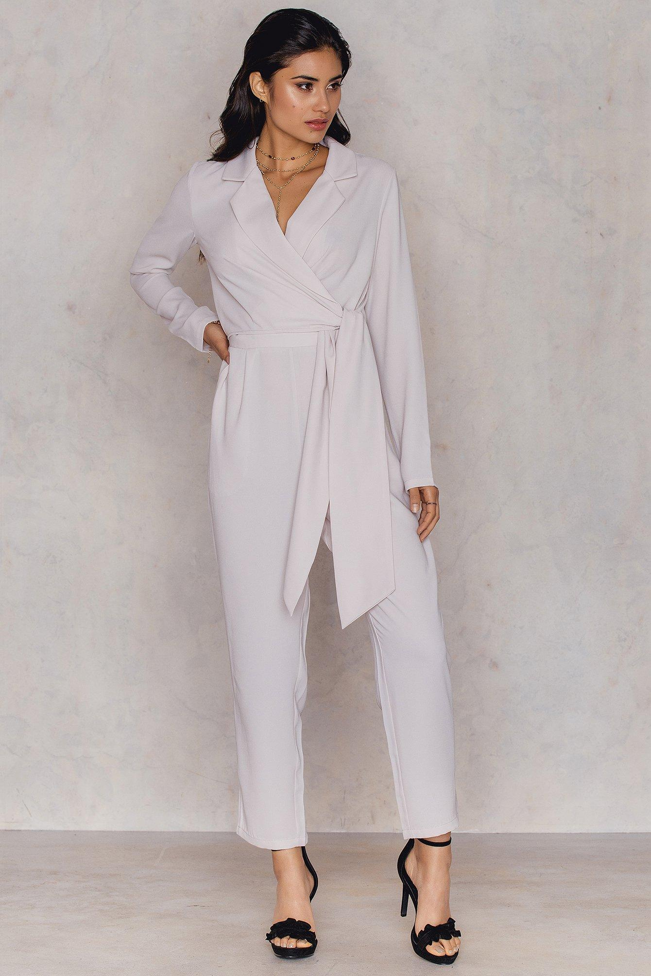 best shoes new list 100% quality Blazer Jumpsuit Pink in Pale Pink
