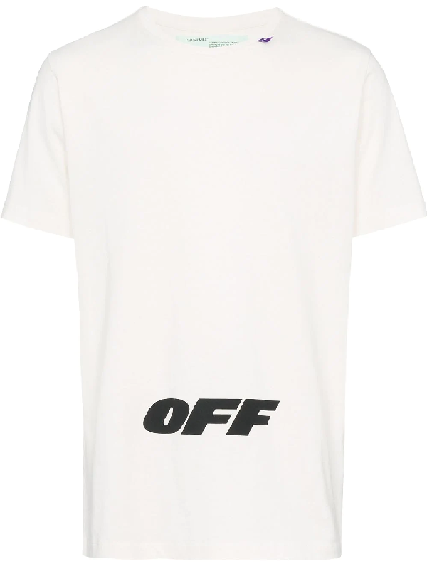 Off-White Wing Off Short-Sleeve Cotton Slim Tee In White