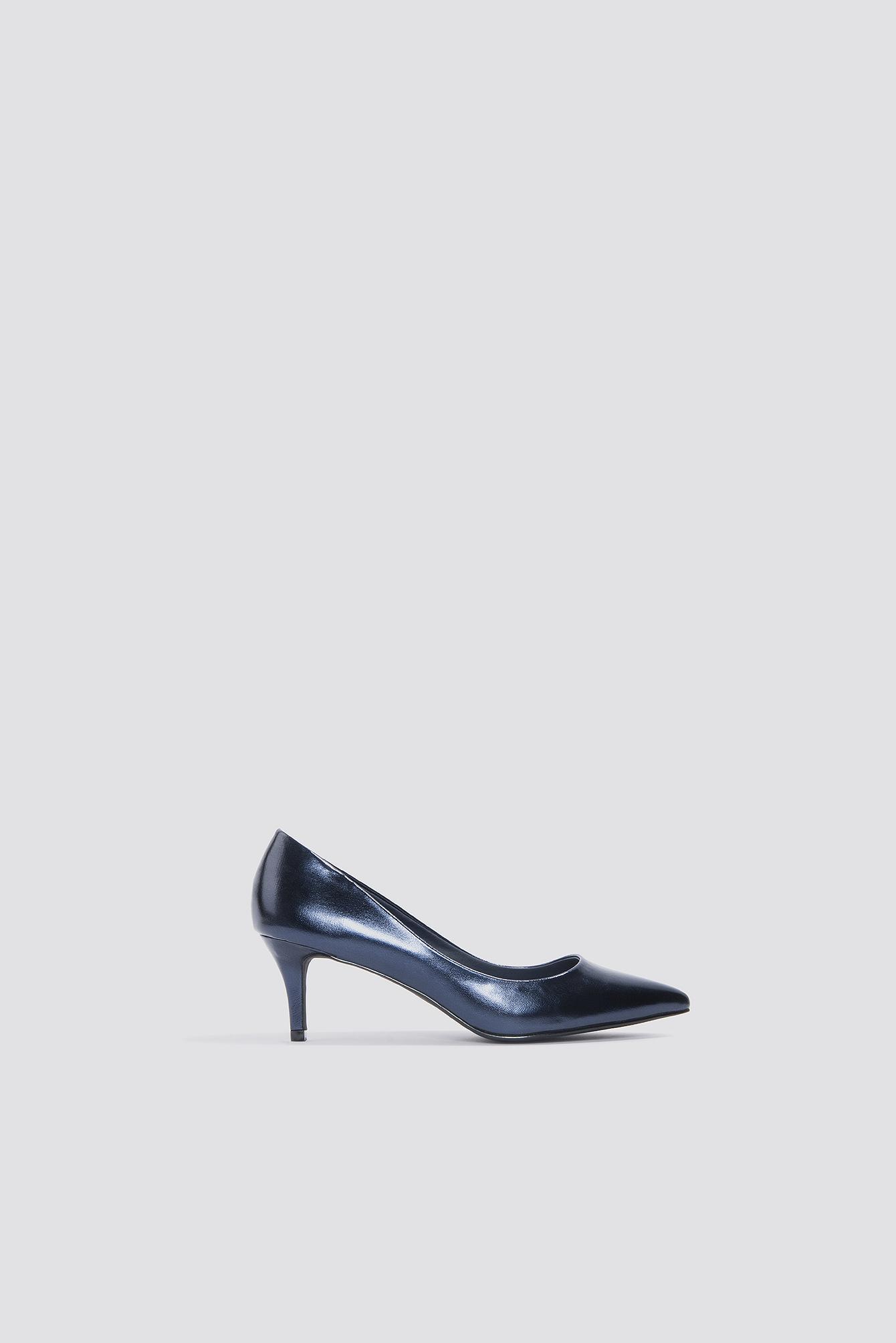 8e869b77c0 Na-Kd Metallic Mid Heel Pumps - Blue | ModeSens
