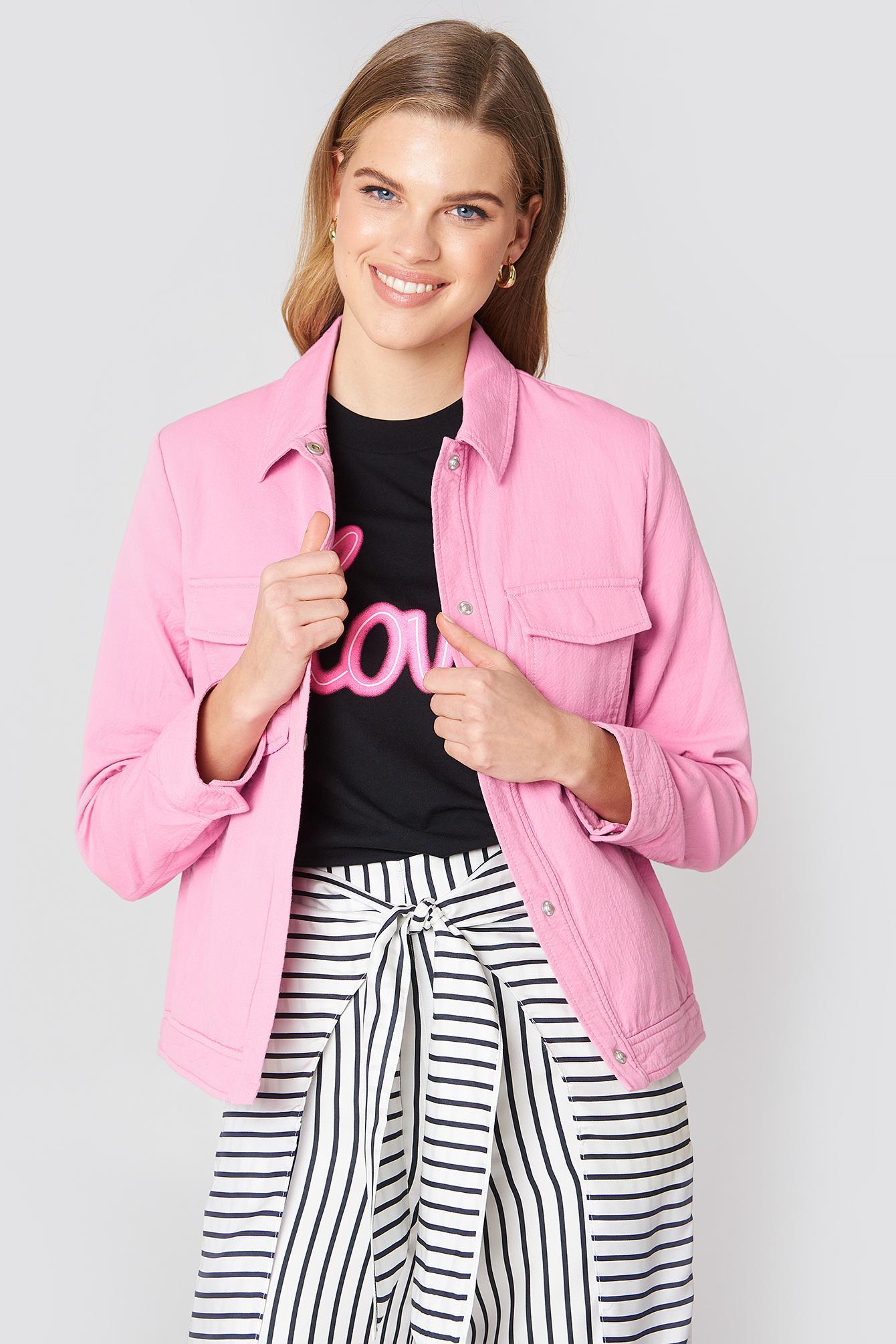51056932 Samsoe & Samsoe Kealey Jacket - Pink | ModeSens