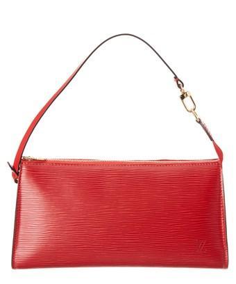 Louis Vuitton Red Epi Leather Pochette Accessoires In Nocolor