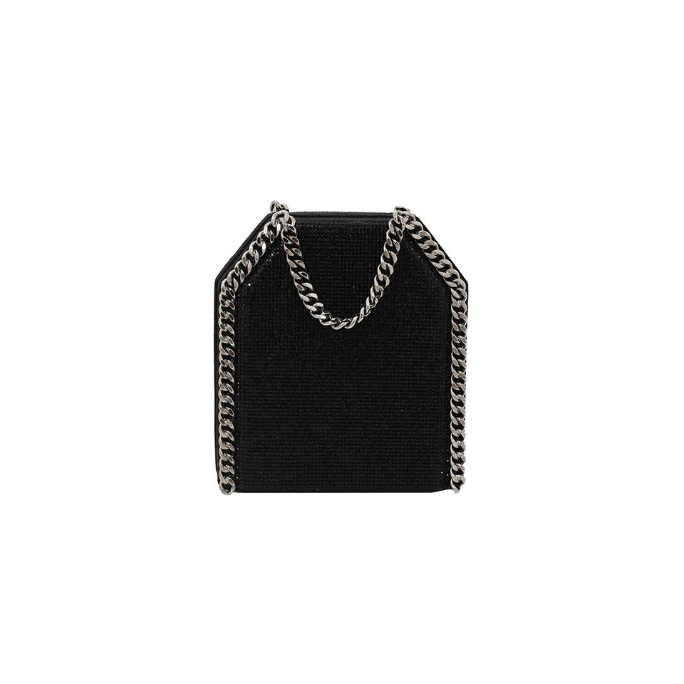 Stella Mccartney Tiny Bella Clutch In Black