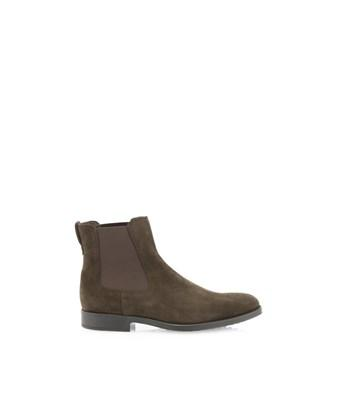 Tod's Men's  Brown Suede Ankle Boots