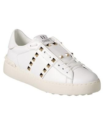 new product 383c3 ff7d4 Valentino Rockstud Untitled Leather Sneaker, 41, White
