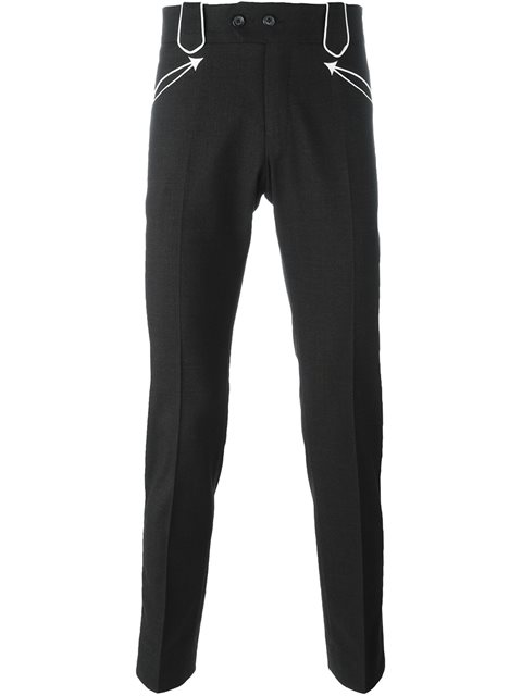 Dolce & Gabbana Straight Trousers In Black