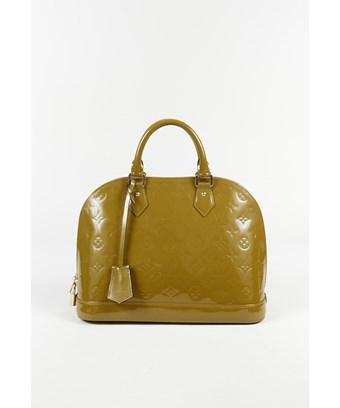 "Louis Vuitton 1  ""Vert Olive"" Monogram Vernis Leather ""Alma Pm"" Bag In Green"