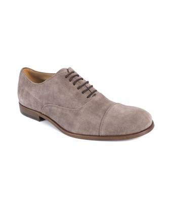 Tod's Tods Brown Suede Lace Up Cap Toe Derby Shoes