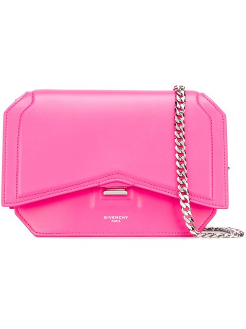Givenchy Mini Bow-cut Cross Body Bag In Shocking Pink