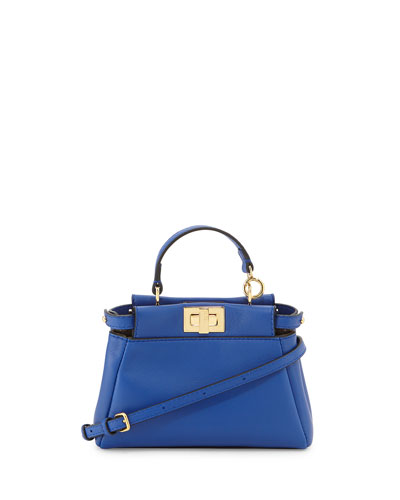 003482a7 'Micro Peekaboo' Nappa Leather Bag (Extra Small) in Blue