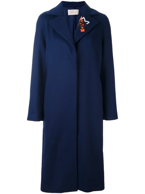 Christopher Kane Tape And Sequin-embellished Coat In Blue